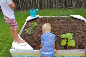 Garden fun - sandbox to planter