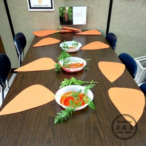 Spring crafts for toddlers - carrot art