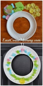 Spring crafts for toddlers - spring wreath