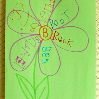 Practice spelling and printing with these cute spring flowers!