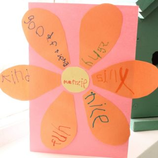 This homemade birthday card is a great way to teach kindness.