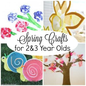 Spring Crafts for 2 Year Olds