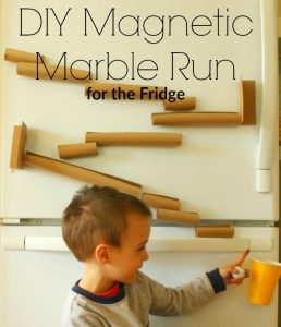 Magnetic Marble Run (for the fridge)