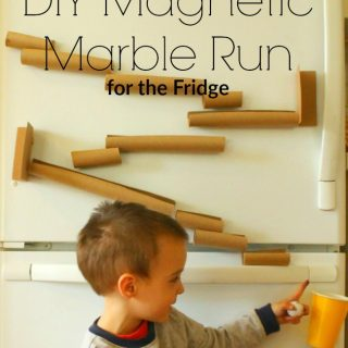This magnetic marble run made for the fridge is a great quiet time activity!