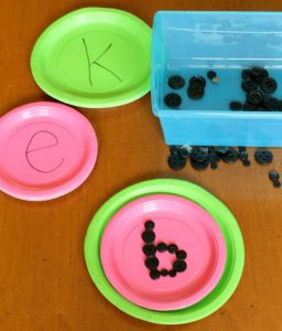 Learning the alphabet this summer - watermelon letters