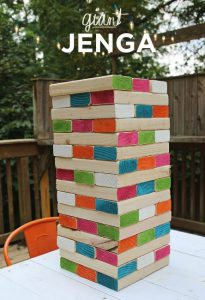 Games to play outside - giant Jenga