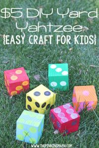 Games to play outside - yard yahtzee