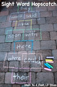 How to teach reading this summer - sight word hopscotch