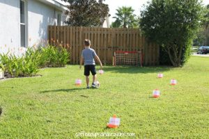 How to teach reading this summer - sight word soccer