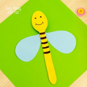 Making puppets - wooden spoon bee