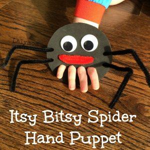 Puppet making - itsy bitsy spider