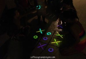 Summer games to play outside - glow in the dark tic tac toe