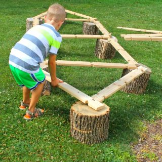 And then it was the longest balance beam possible.