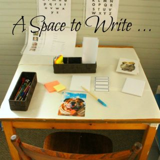 Creating a little space for kids to practice writing and sending notes and letters