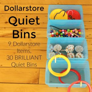 Dollarstore Quiet Bins: 9 dollarstore items, 30 brilliant quiet bins!