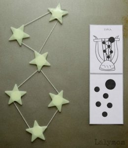 Constellations for kids - DIY star magnets
