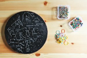Constellations for kids - pushpin geoboard