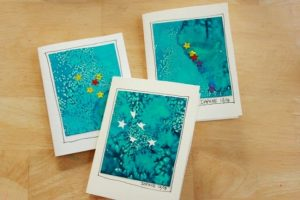 Constellations for kids - sticker resist art