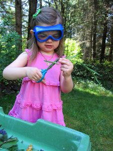 Forest Kindergarten - Scissor skills with nature