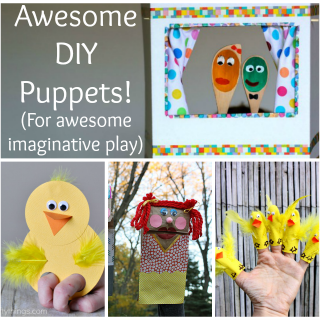 These awesome DIY puppets are perfect for kids to make and great for imaginative play!