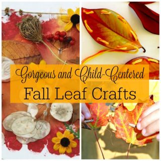 Gorgeous fall leaves crafts for kids! These are perfect autumn crafts and activities.