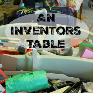 Turn the water table into a huge inventors bin!