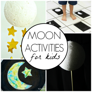 These are awesome moon activities for kids. Great ways to get kids excited about space and the moon