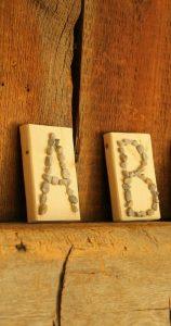 A Pretty Pebble Alphabet