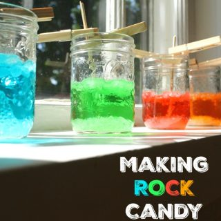 How to easily make rock candy! Such a yumy science experiment for kids!