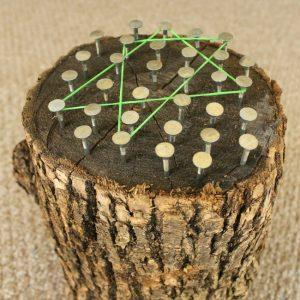 Stump and Nails Geoboard