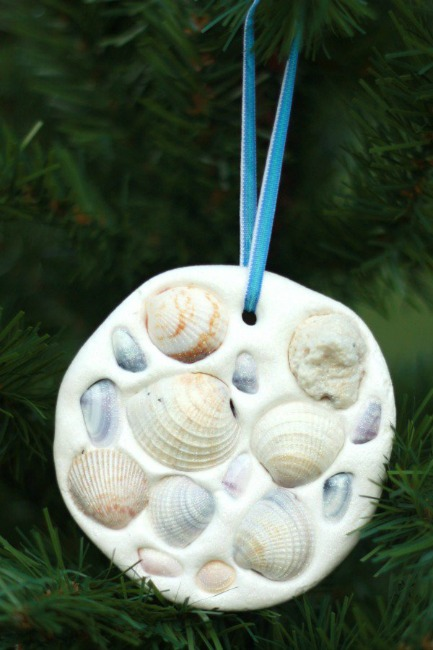 Christmas ornaments to make with kids how wee learn - Seashell ornaments to make ...