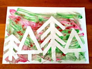 christmas-art-for-kids-tape-resist-trees