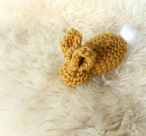 Beginning knitter project: a little bunny