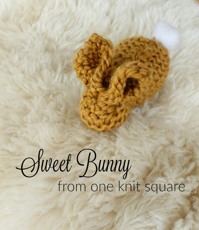 Make a bunny our of one square of knitting! Such a great beginner knitting project for kids!