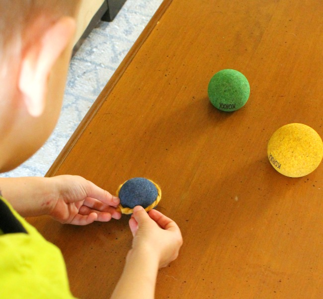 Playing and learning with KORXX cork building blocks