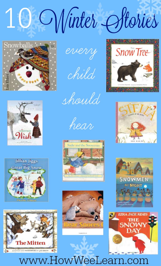10 Breathtaking Winter Books for Kids! These are excellent preschool holiday stories.