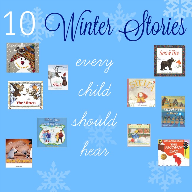 10 breathtaking Winter books for kids. Gorgeous stories all children should hear.