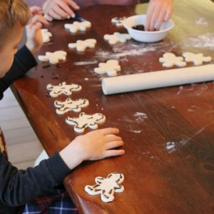 Christmas Ornaments made with Salt Dough and  Cloves