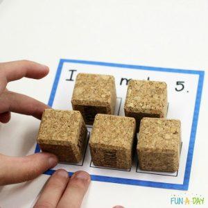 teaching numbers - quiet blocks