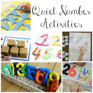 Teaching numbers with quiet activities for preschoolers. These are fabulous quiet time activities that are independent for preschoolers!
