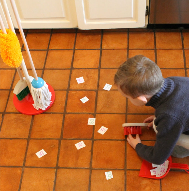 A fun way to practice counting, skip counting, spelling, and the ABCs! So many ways to play this game!
