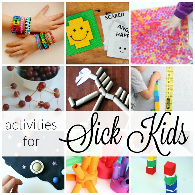 20 activities for kids at home when they are sick