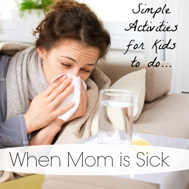 Simple activities for kids to do when Mom is sick - brilliantly easy activities for preschoolers and toddlers