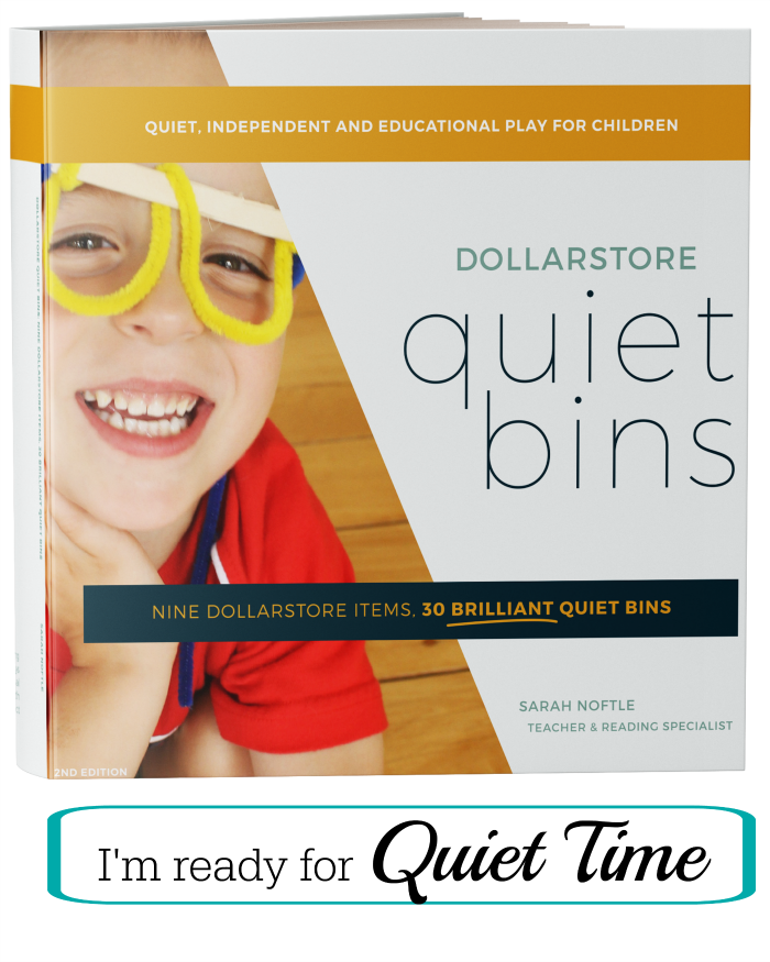 Dollarstore Quiet Bins