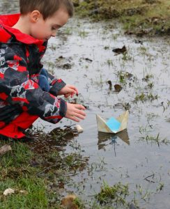 Making a Splash with Origami Boats