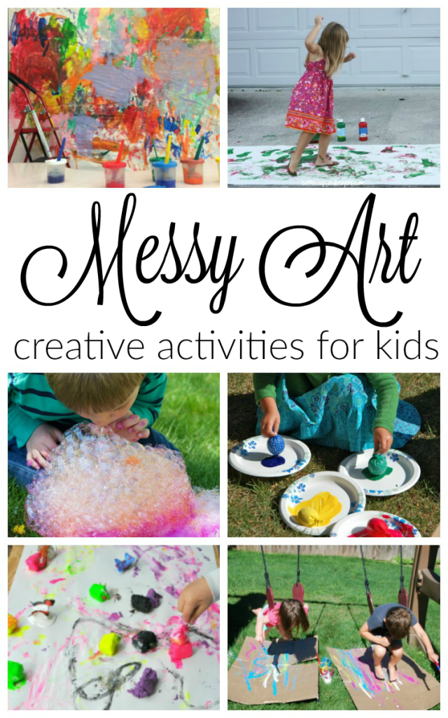 10 awesomely messy art activities for kids