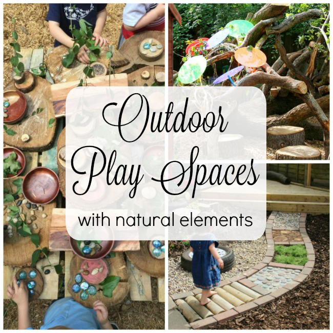 Beautiful outdoor play spaces that incorporate natural elements