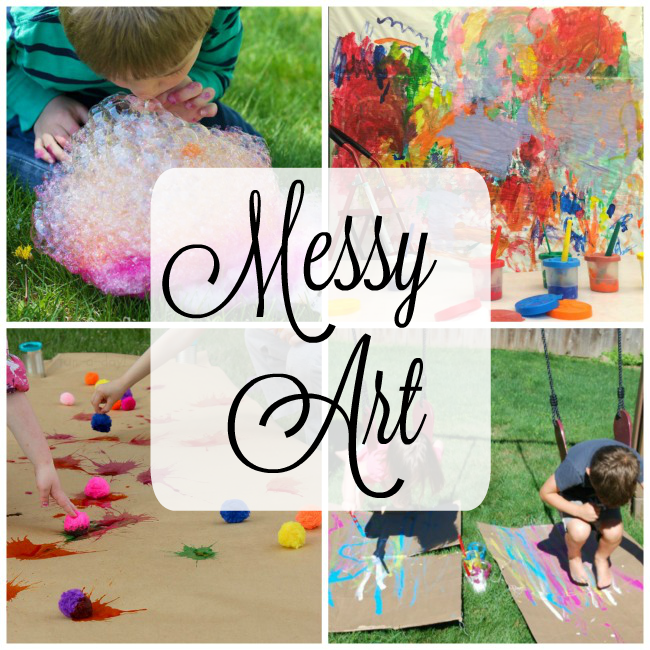 Messy art activities for kids