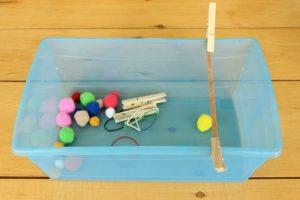Amazing fine motor activities to build dexterity - Slingshot quiet bin