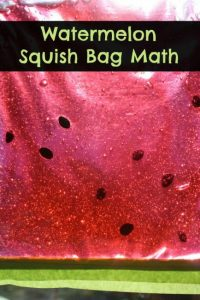 Amazing fine motor activities to build dexterity - Watermelon squish bags